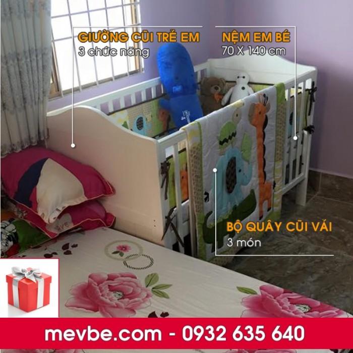 Cũi trẻ em Darling màu trắng gồm 3 chức năng sử dụng như dùng làm cũi em bé từ 0 đến 24 tháng, giường đơn trẻ em từ 18 tháng trở lên và ghế salon khi trẻ lớn 5 - 7 tuổi (tùy theo sự phát triển và thể trạng của từng bé)0
