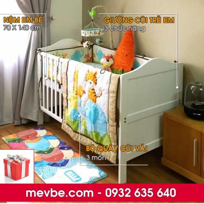 Cũi trẻ em Darling màu trắng gồm 3 chức năng sử dụng như dùng làm cũi em bé từ 0 đến 24 tháng, giường đơn trẻ em từ 18 tháng trở lên và ghế salon khi trẻ lớn 5 - 7 tuổi (tùy theo sự phát triển và thể trạng của từng bé)1