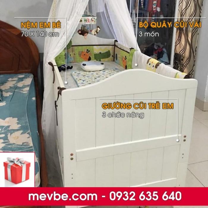 Cũi trẻ em Darling màu trắng gồm 3 chức năng sử dụng như dùng làm cũi em bé từ 0 đến 24 tháng, giường đơn trẻ em từ 18 tháng trở lên và ghế salon khi trẻ lớn 5 - 7 tuổi (tùy theo sự phát triển và thể trạng của từng bé)4
