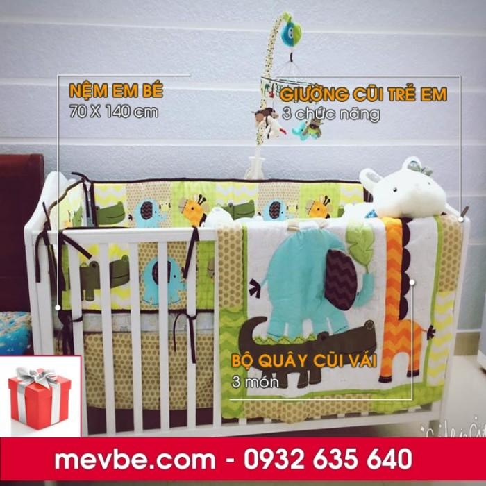 Cũi trẻ em Darling màu trắng gồm 3 chức năng sử dụng như dùng làm cũi em bé từ 0 đến 24 tháng, giường đơn trẻ em từ 18 tháng trở lên và ghế salon khi trẻ lớn 5 - 7 tuổi (tùy theo sự phát triển và thể trạng của từng bé)2