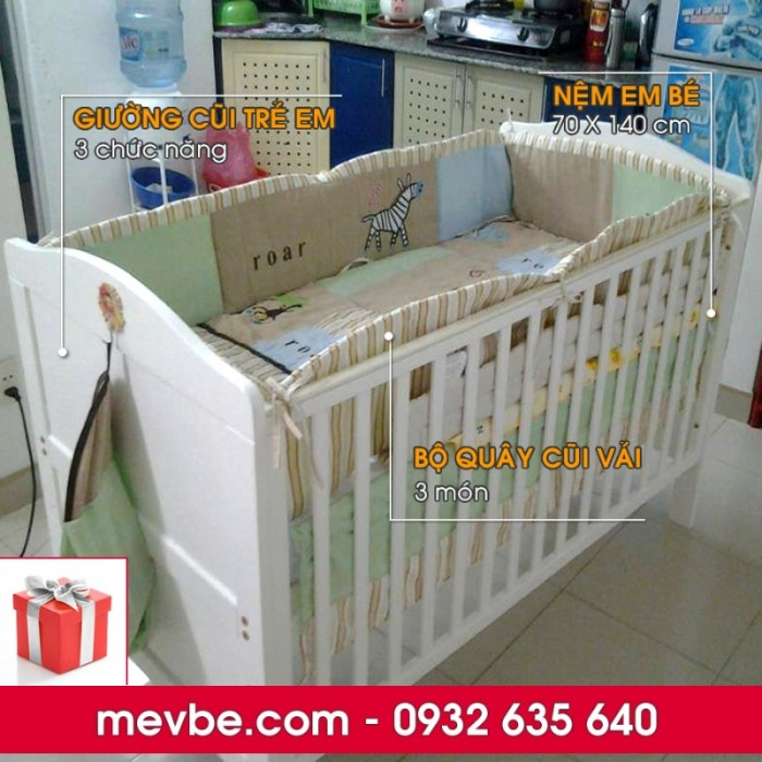 Cũi trẻ em Darling màu trắng gồm 3 chức năng sử dụng như dùng làm cũi em bé từ 0 đến 24 tháng, giường đơn trẻ em từ 18 tháng trở lên và ghế salon khi trẻ lớn 5 - 7 tuổi (tùy theo sự phát triển và thể trạng của từng bé)9