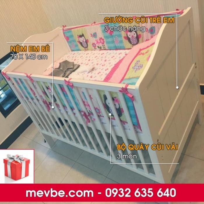 Cũi trẻ em Darling màu trắng gồm 3 chức năng sử dụng như dùng làm cũi em bé từ 0 đến 24 tháng, giường đơn trẻ em từ 18 tháng trở lên và ghế salon khi trẻ lớn 5 - 7 tuổi (tùy theo sự phát triển và thể trạng của từng bé)7