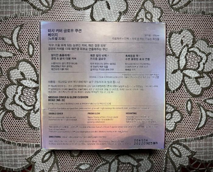 Phấn nước Glow & Missha Cover SPF45 PA+ xách tay Hàn Quốc2