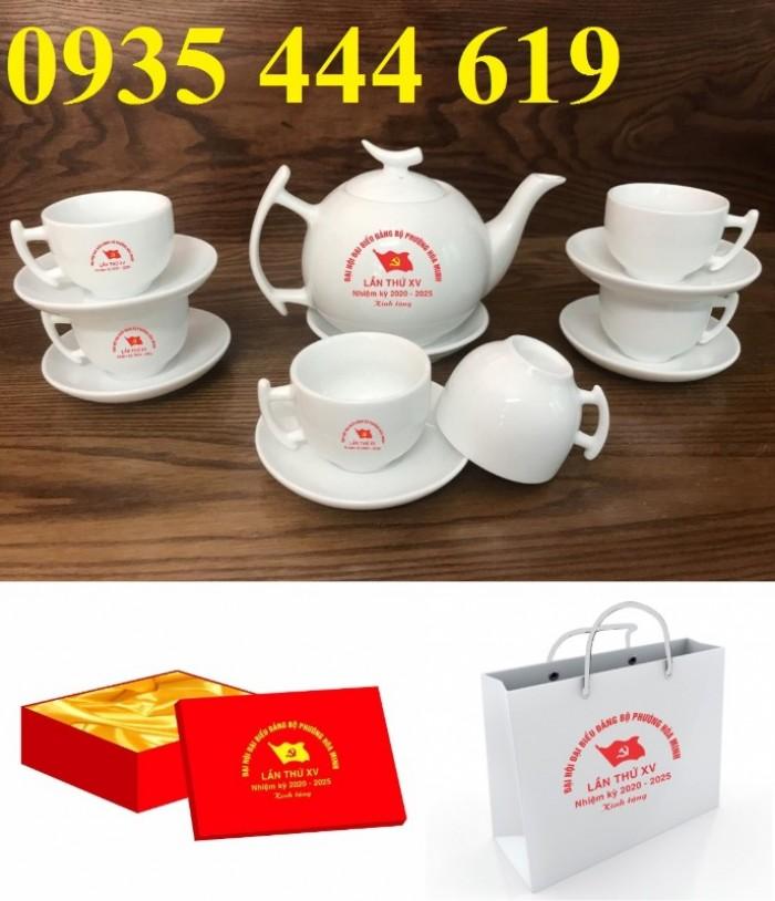Sản xuất ấm trà in logo Đại hội Đảng tại Huế6