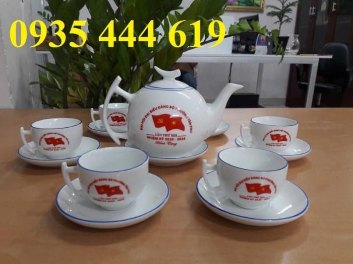 Xưởng sản xuất ấm trà in logo Đại Hội Đảng giá rẻ tại Quảng Bình0