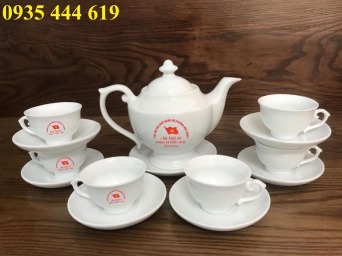 Xưởng sản xuất ấm trà in logo Đại Hội Đảng giá rẻ tại Quảng Bình2