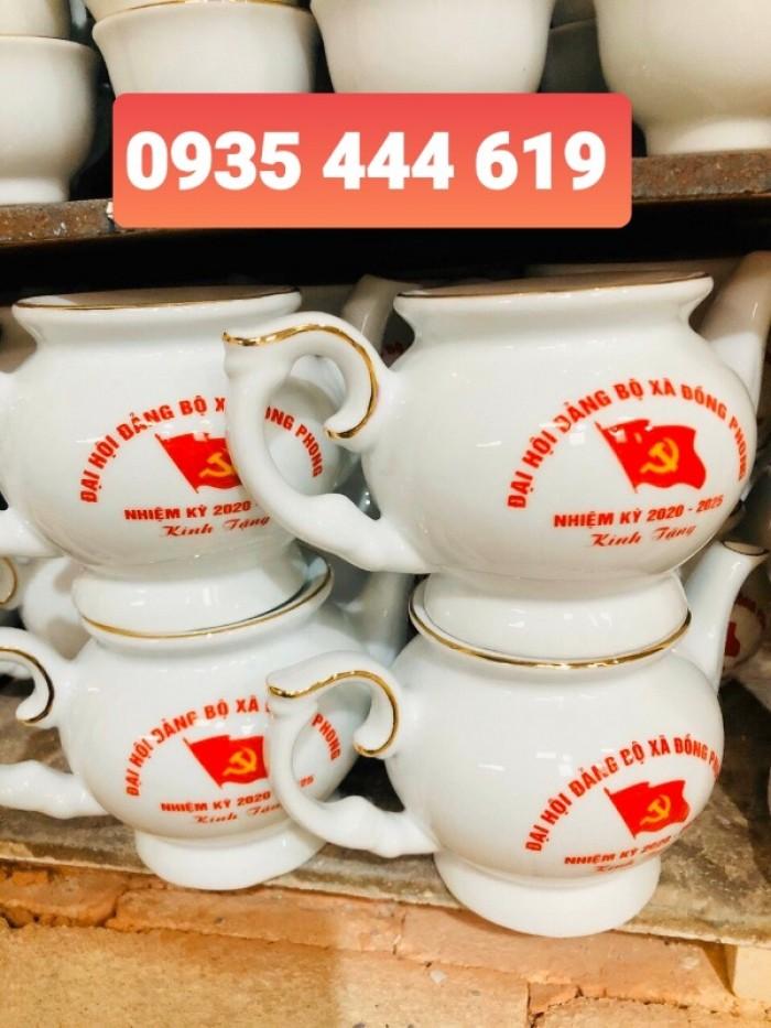 Xưởng sản xuất ấm trà in logo Đại Hội Đảng giá rẻ tại Quảng Bình4