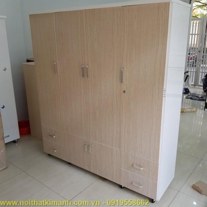Tủ quần áo gỗ công nghiệp 4 buồng17