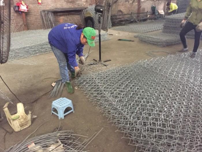 Sản xuất Thảm đá #Rọ đá kè đường bọc nhựa và mạ kẽm giá rẻ4