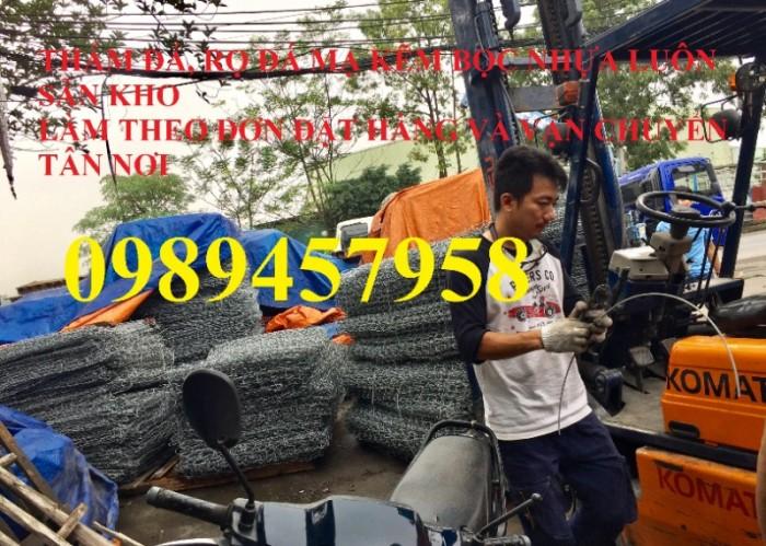 Sản xuất Thảm đá #Rọ đá kè đường bọc nhựa và mạ kẽm giá rẻ5