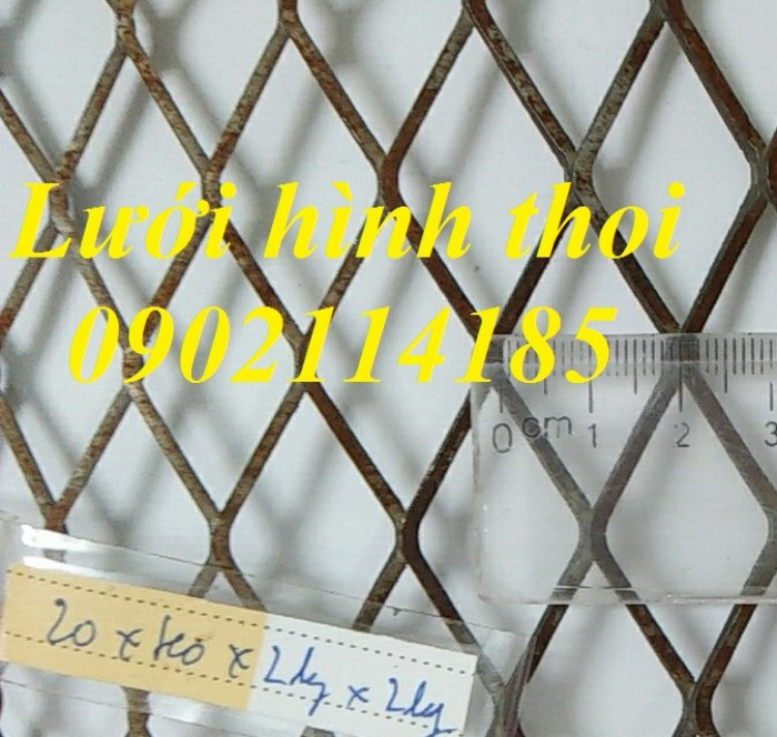 Lưới hình trám, lưới thép dập giãn, lưới thép hình thoi hàng có sẵn1