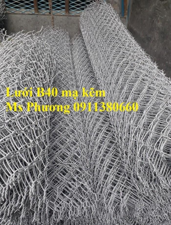 Lưới Thép B40 Mạ Kẽm Ô 60X60. Khổ 1M X 15M/ Cuộn2