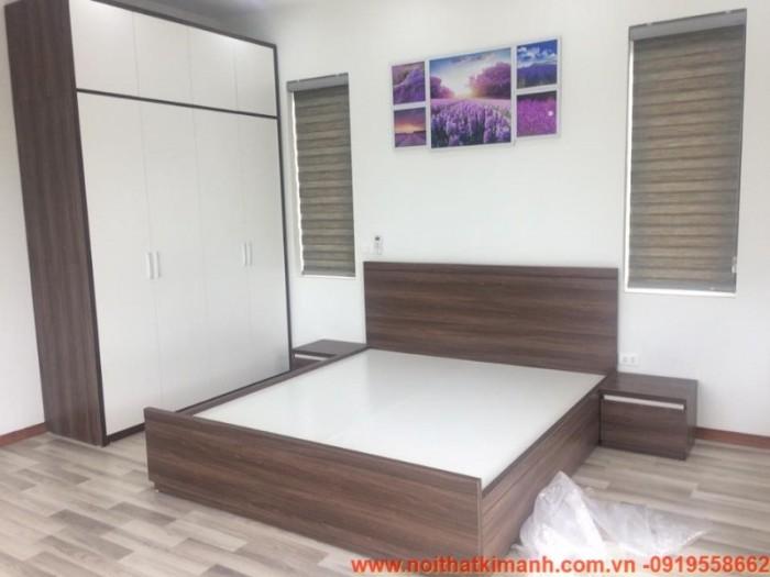 Đóng giường gỗ công nghiệp / Giường ngủ giá rẻ cho căn hộ, chung cư tại tphcm20