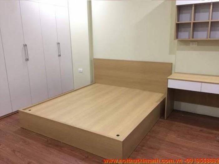 Đóng giường gỗ công nghiệp / Giường ngủ giá rẻ cho căn hộ, chung cư tại tphcm14