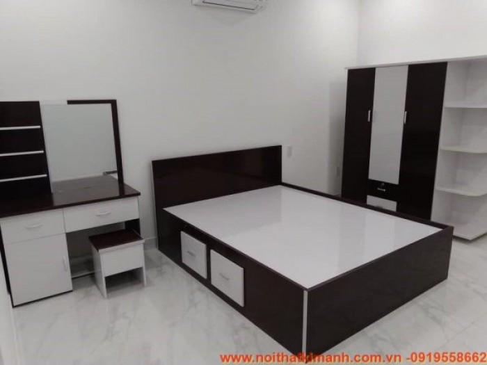 Đóng giường gỗ công nghiệp / Giường ngủ giá rẻ cho căn hộ, chung cư tại tphcm13