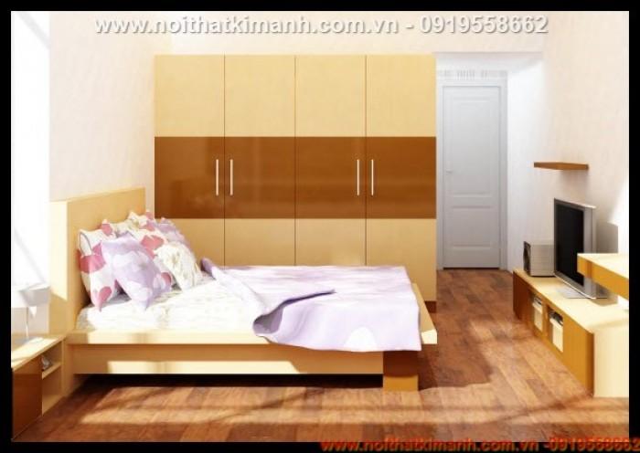 Giường gỗ MDF An Cường3