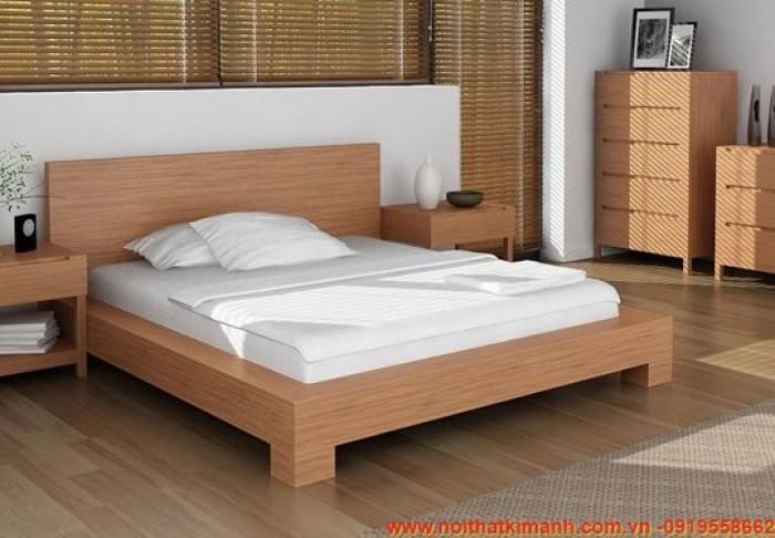 Các mẫu giường gỗ công nghiệp đẹp11