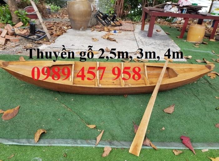 Thuyền gỗ trang trí quán cafe, Thuyền gỗ nhà hàng 2m, 3m, 4m11