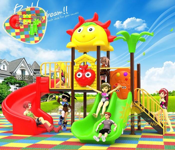 Cầu trượt liên hoàn mầm non dành cho trẻ em giá rẻ, chất lượng cao1