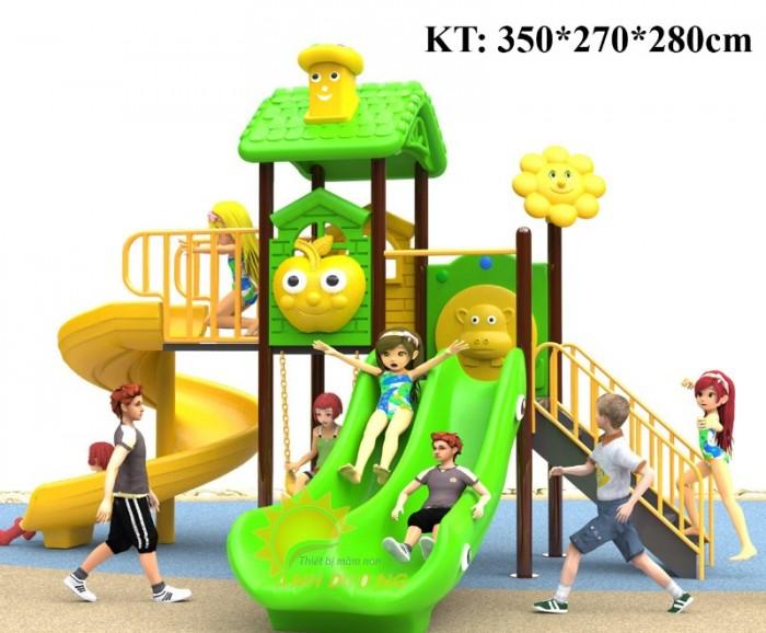 Cầu trượt liên hoàn mầm non dành cho trẻ em giá rẻ, chất lượng cao15
