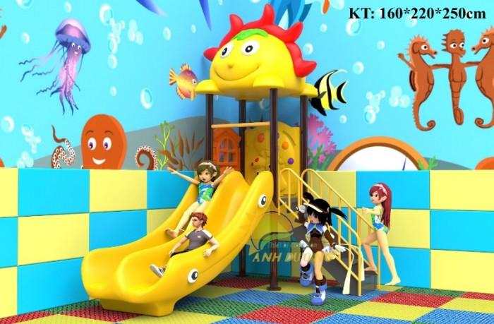 Cầu trượt liên hoàn mầm non dành cho trẻ em giá rẻ, chất lượng cao10