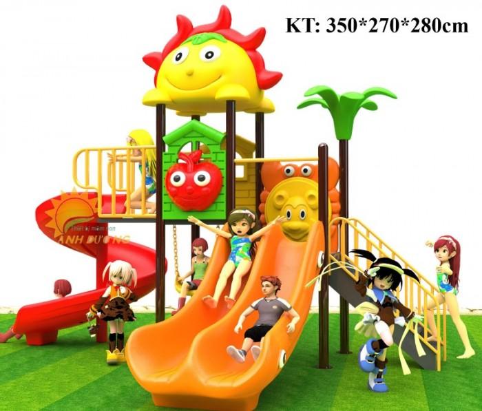 Cầu trượt liên hoàn mầm non dành cho trẻ em giá rẻ, chất lượng cao18