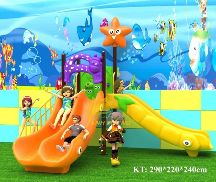 Cầu trượt liên hoàn mầm non dành cho trẻ em giá rẻ, chất lượng cao14