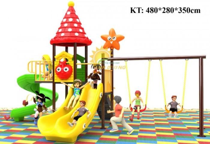 Cầu trượt liên hoàn mầm non dành cho trẻ em giá rẻ, chất lượng cao19
