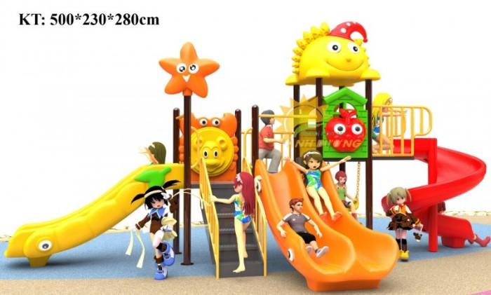 Cầu trượt liên hoàn mầm non dành cho trẻ em giá rẻ, chất lượng cao20