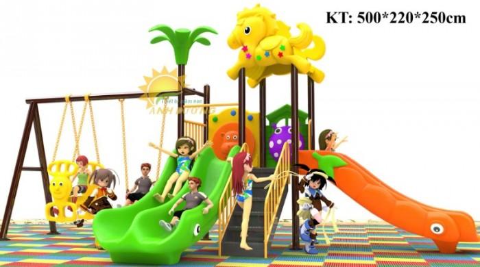 Cầu trượt liên hoàn mầm non dành cho trẻ em giá rẻ, chất lượng cao22