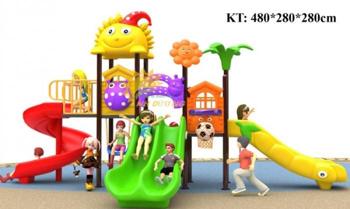 Cầu trượt liên hoàn mầm non dành cho trẻ em giá rẻ, chất lượng cao26