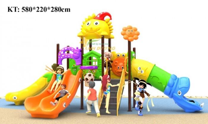 Cầu trượt liên hoàn mầm non dành cho trẻ em giá rẻ, chất lượng cao24