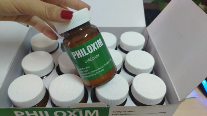 Philoxime (Cefo Đức 100g) đặc trị các bệnh về gan tụy do vi khuẩn trêm Tôm Cá0