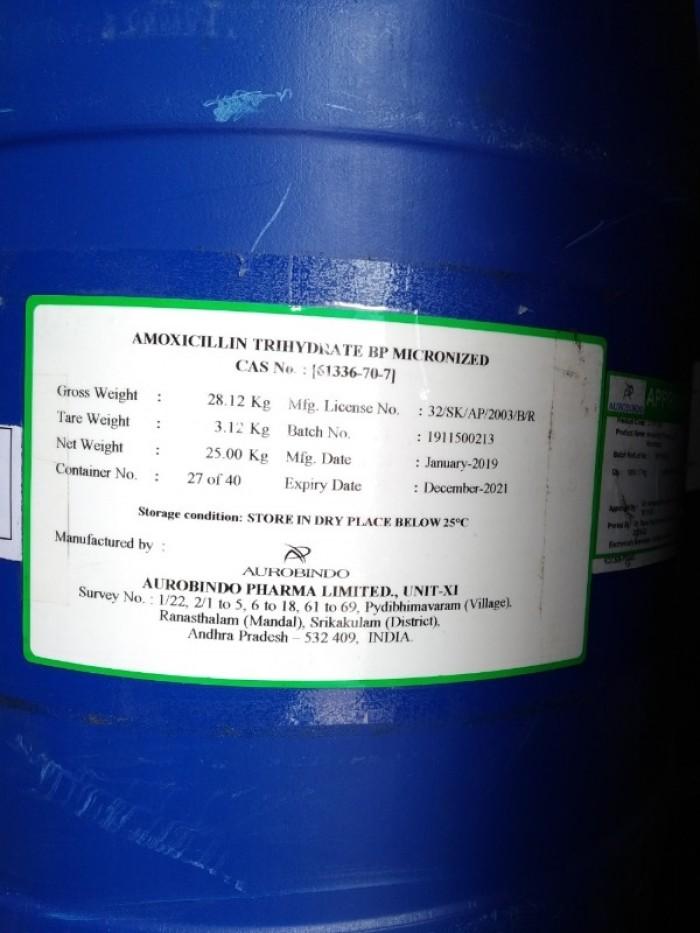 Amoxyciline Trihydrate nhập khẩu0