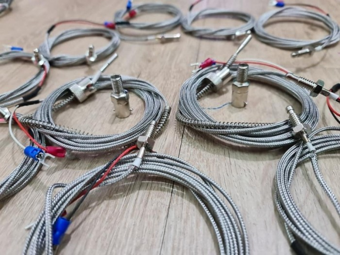 Dây dò nhiệt loại K 2*0.5 ra dây 2M gắn khoen cài M10,M120