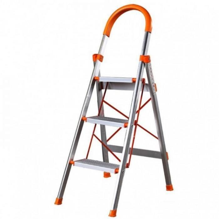 Thang ghế INOX Ameca AMG-03IN, Thang ghế thắp hương, thang ghế có tay vịn, thang ghế 3 bậc Inox0