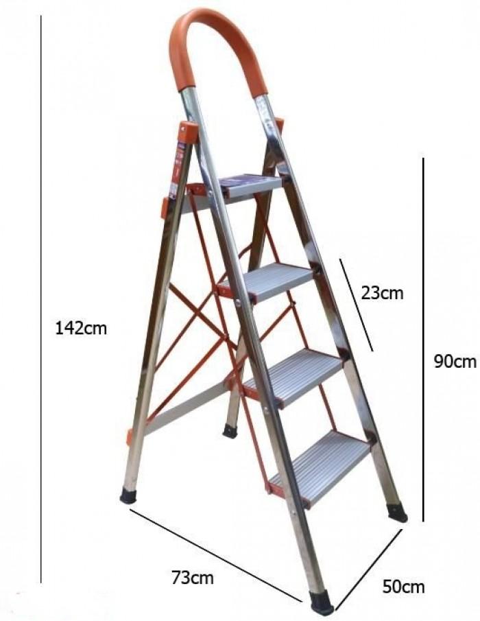 Thang ghế Inox, Thang ghế 4 bậc có tay vịn, Thang ghế Inox 4 bậc AMECA AMG-04 - Chất liệu: Inox 201 và Nhôm - Thương Hiệu: AMECA (USA) - Xuất xứ: Trung Quốc. - Chân và khung thang bằng Inox 201, Mặt bậc bằng hợp kim nhôm. – Số bậc: 04 – Kích thước mở:142*73*50cm – Kích thước đóng:151* (52 + 36.5)* 6cm – Khoảng cách bậc: 23 cm – Trọng lượng: 4 kg – Chất liệu: Inox 201 – Tải trọng 150kg – Bảo hành: 18 tháng - Tình trặng: có hàng - Giao vận: Miễn phí vận chuyển giao hàng tại HN và Tp. HCM0