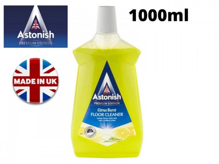 Nước lau sàn chiết xuất từ chanh sả, hương thơm nhẹ nhàng, dễ chịu. Với công thức siêu sạch có thể lau chùi các vết bẩn cứng đầu bám dính trên sàn nhà, ngay cả vết băng keo dính. Sản phẩm chiết xuất từ thiên nhiên, thân thiện với môi trường. NƯỚC LAU SÀN CHIẾT XUẤT CHANH SẢ ASTONISH C6100  Dung tích: 1.000ml
