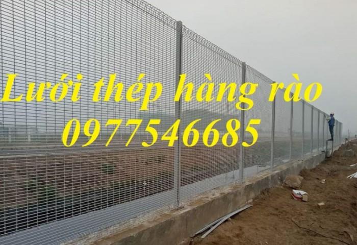 Hàng rào lưới thép hàn, hàng rào mạ kẽm0