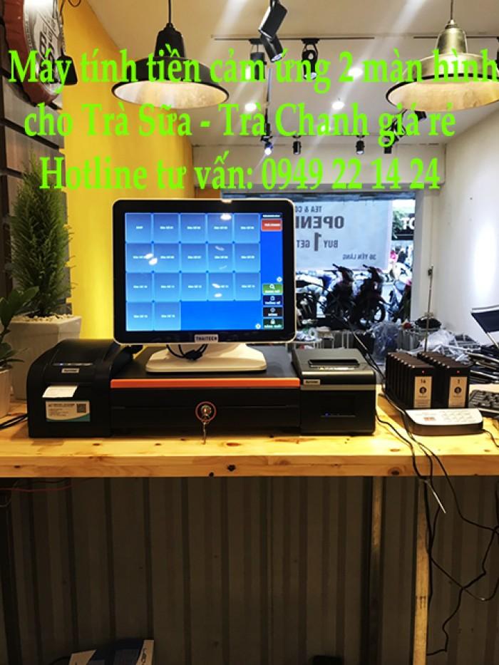 Máy tính tiền cảm ứng cho trà sữa tại Đồng Tháp0