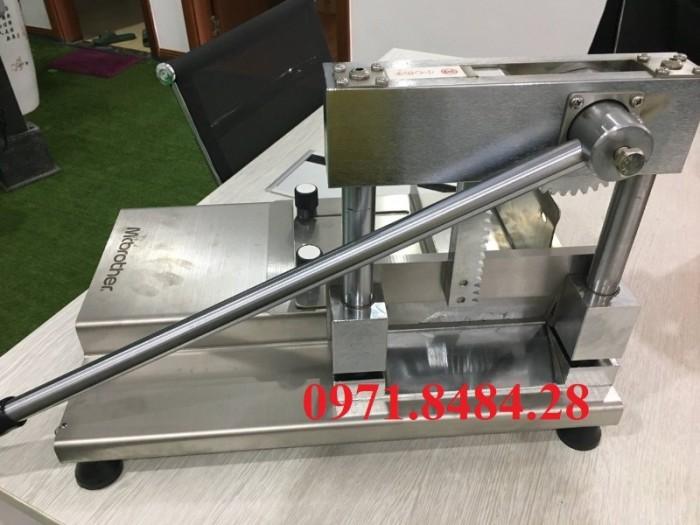 Máy cắt móng giò heo, máy chặt giò heo thủ công, máy cắt xương móng giò2