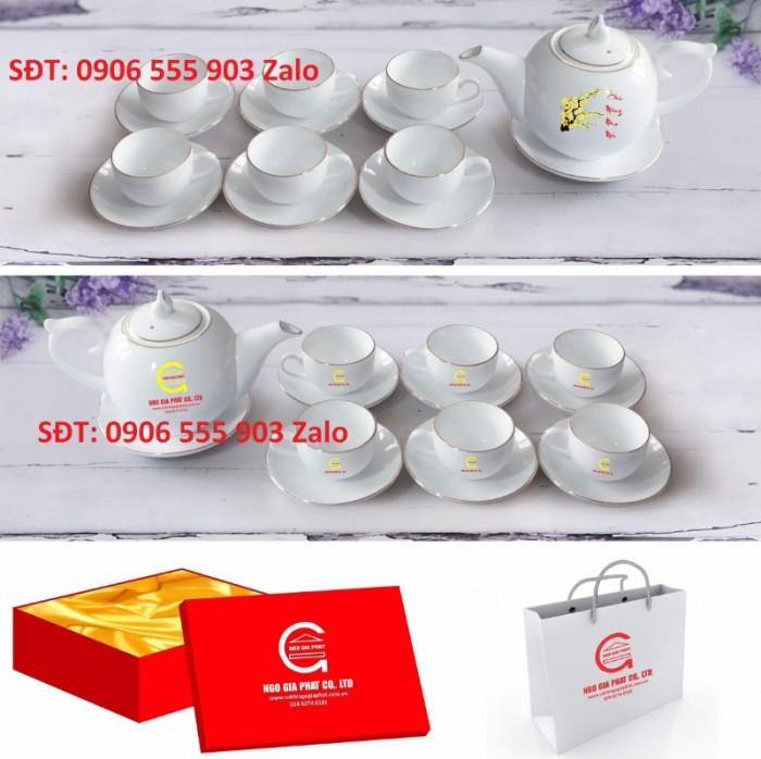 Xưởng sản xuất in ấn bộ ấm trà in logo Hồ Chí Minh, Bộ ấm chén in logo HCM5