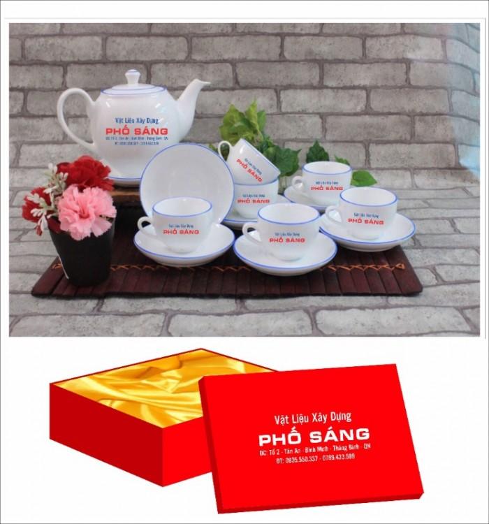Xưởng sản xuất in ấn bộ ấm trà in logo Hồ Chí Minh, Bộ ấm chén in logo HCM7