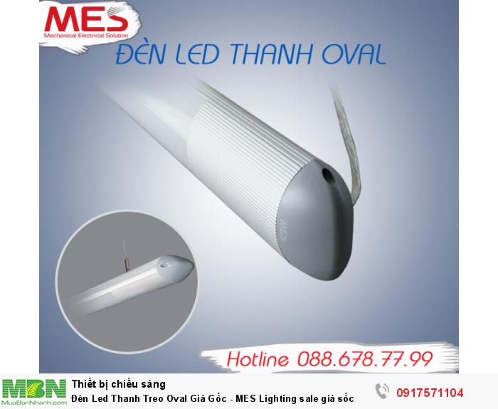 Đèn Led Thanh Treo Oval Giá Gốc - MES Lighting sale giá sốc