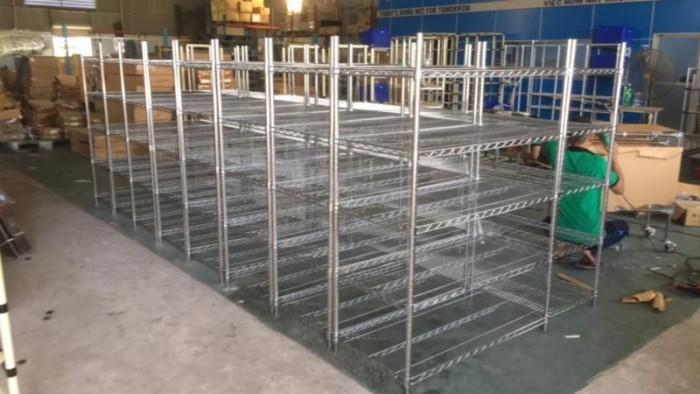 Giá lưới- Xe đẩy lưới  Inox 4 tầng0