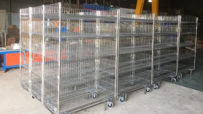 Giá lưới- Xe đẩy lưới  Inox 4 tầng1