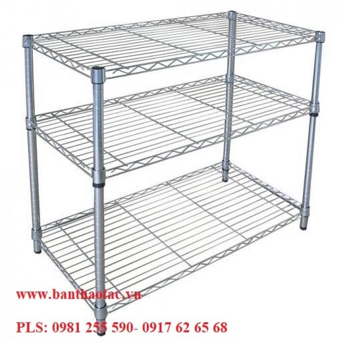 Giá lưới- Xe đẩy lưới  Inox 4 tầng2