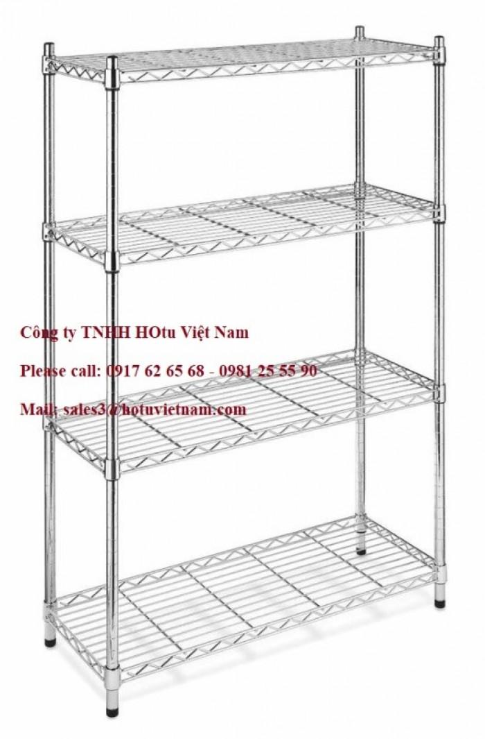 Giá lưới- Xe đẩy lưới  Inox 4 tầng3