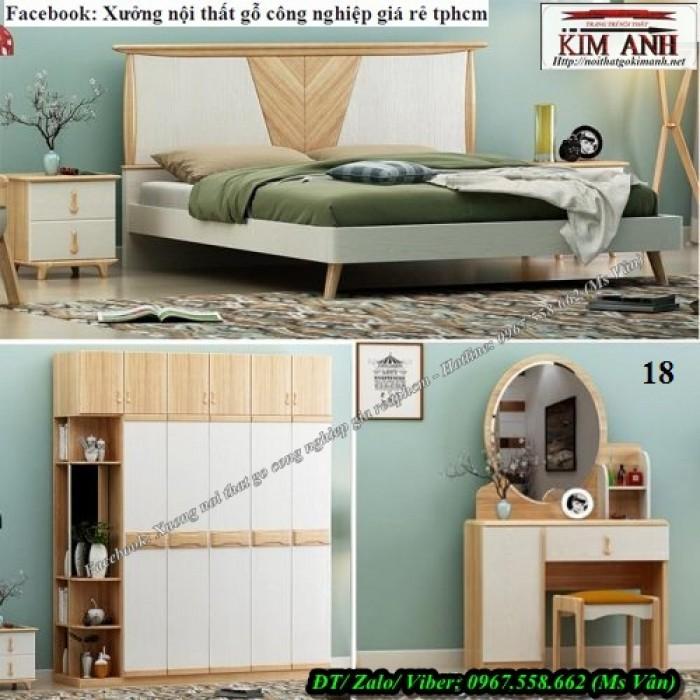 Đóng giường gỗ công nghiệp q2 q70