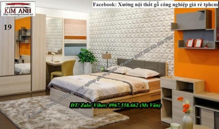 Giường ngủ gỗ công nghiệp có ngăn kéo tphcm1